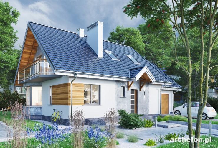 Projekt domu Sybilla-2 - dom z dwiema malowniczymi lukarnami na poddaszu