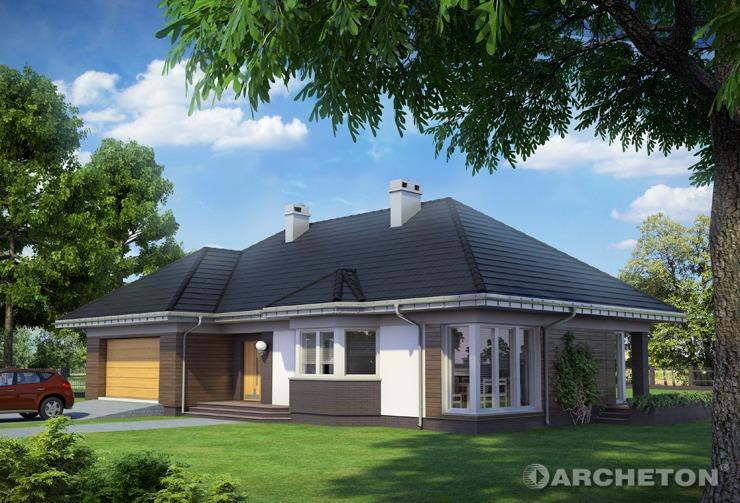 Projekt domu Syriusz Atu - przestronny dom parterowy, na 2 samochody