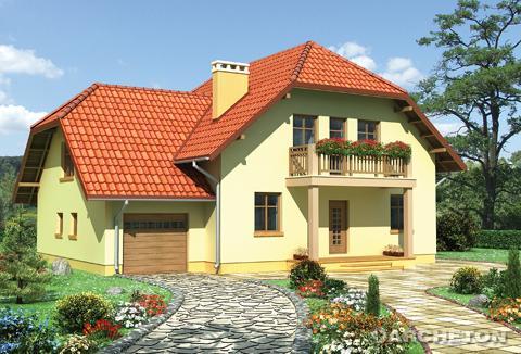 Projekt domu Szymon-2 - dom z wydzieloną jadalnią i otwartą na salon