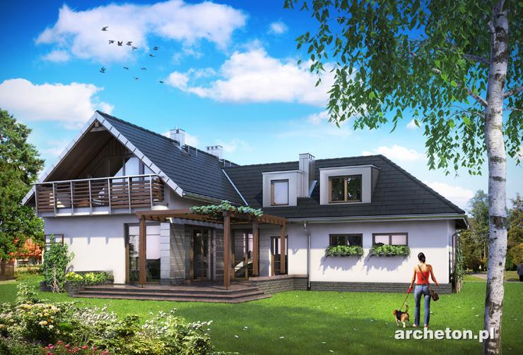 Projekt domu Tal - nowoczesny dom na planie litery T, z garażem dwustanowiskowym