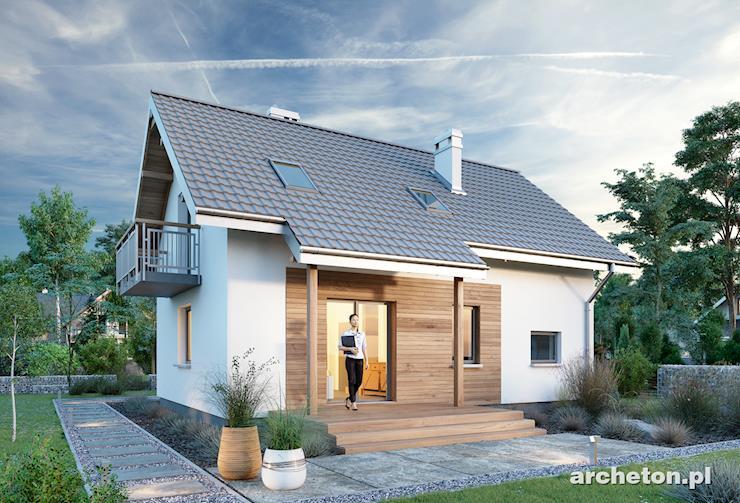 Projekt domu Talus - dom z sypialnią z własną garderobą i łazienką na poddaszu