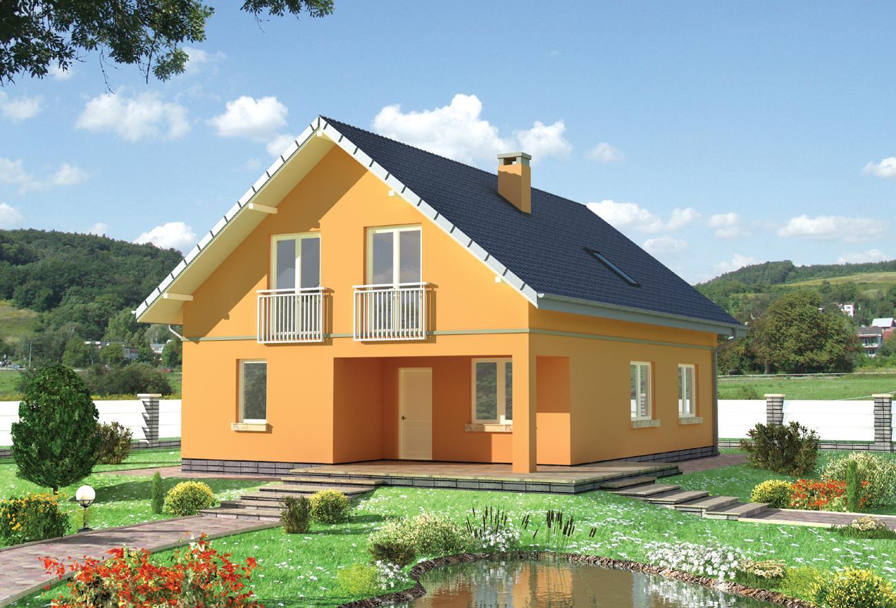 Проект каменного загородного дома из пенобетона, газобетона,.