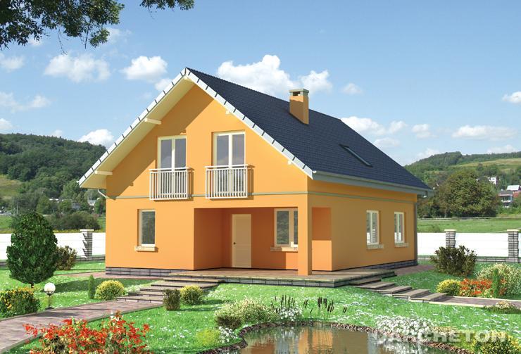 Projekt domu Tamaryszek - dom z obszerną sienią połączoną z garderobą na parterze