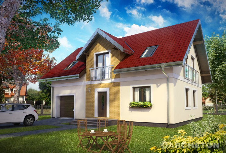 Projekt domu Tarot Eko - dom energooszczędny na planie prostokąta o bardzo prostej bryle