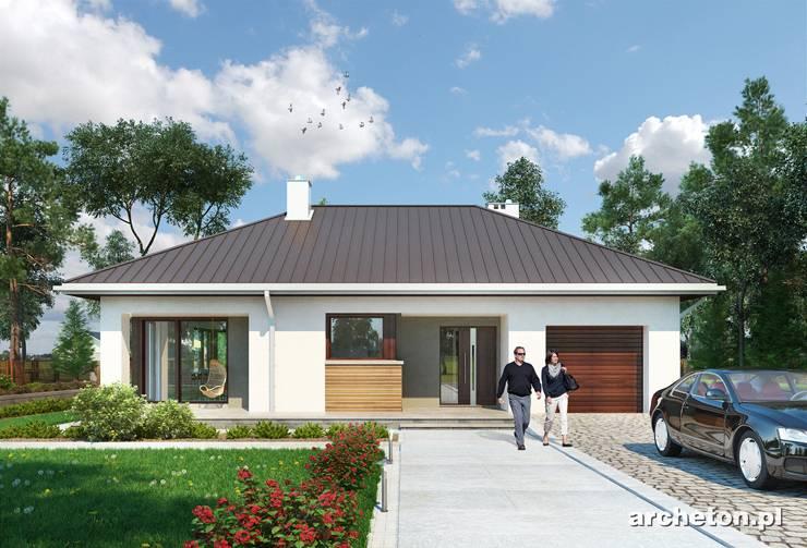 Projekt domu Tatiana Rex - atrakcyjny dom parterowy na planie litery L, z 4 sypialniami i dużą kotłownia