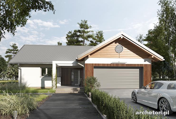 Projekt domu Telma - przestronny dom parterowy dla 5 osobowej rodziny, z garażem dwustanowiskowym