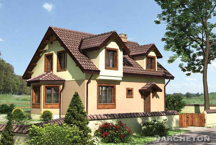 Projekt domu Teofil - dom o zwartej bryle, przykrytej dachem dwuspadowym