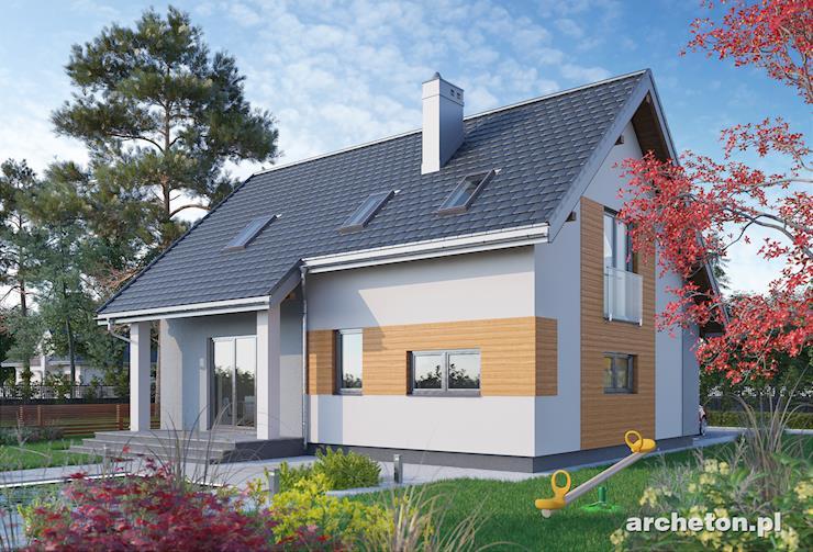 Projekt domu Tibor - niewielki domek z trzema sypialniami na poddaszu