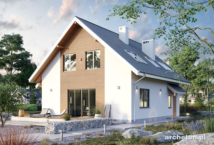 Projekt domu Tola - niewielki, zgrabny domek, z sauną w łazience na poddaszu