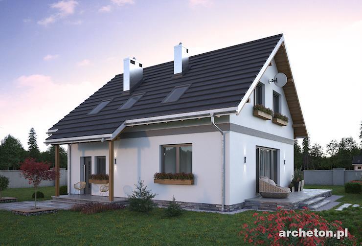 Projekt domu Tola Mini - dom z garażem, pom. gospodarczym i kotłownią na parterze