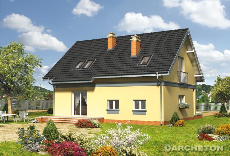 Projekt domu Tomir As - nieduży dom z wbudowanym garażem i kotłownią na parterze