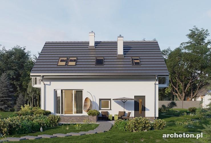 Projekt domu Tomir Lux - nieduży domek z przestronną łazienką nad garażem