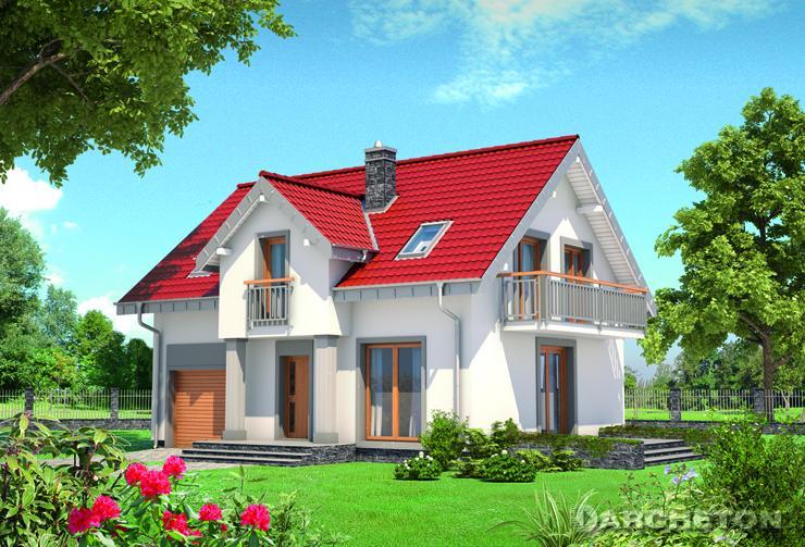 Projekt domu Tomir Lux Solis - nieduży domek z małym wc na parterze