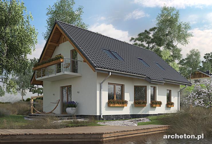Projekt domu Tosia - dom z przestronnym salonem otwartym na jadalnię