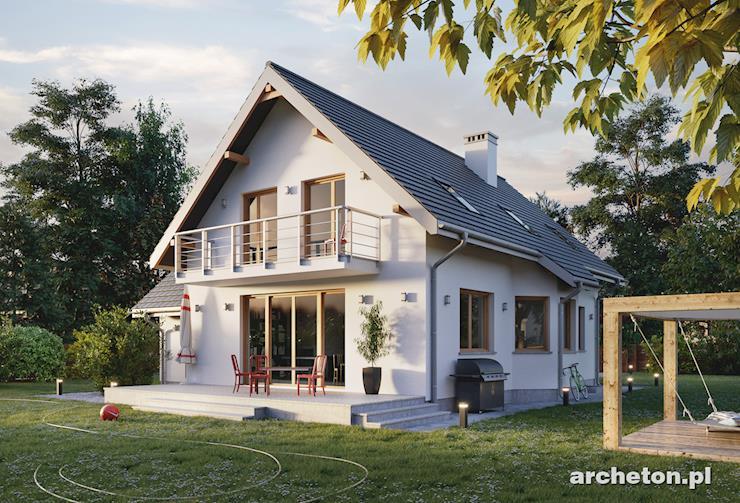 Projekt domu Tosia Mobil - dom z dużym przestronnym strychem nad garażem