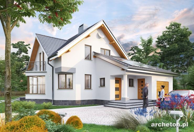Projekt domu Tukan - dom drewniany zbudowany na ortogonalnym rzucie