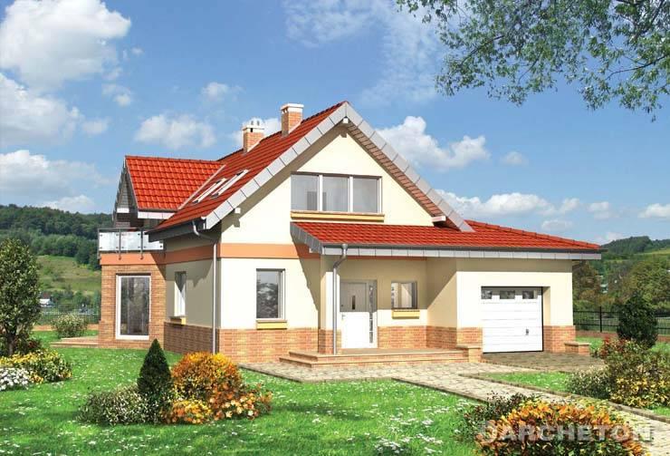 Projekt domu Tukan Midi - dom o ciekawym kształcie z dużą spiżarką obok kuchni