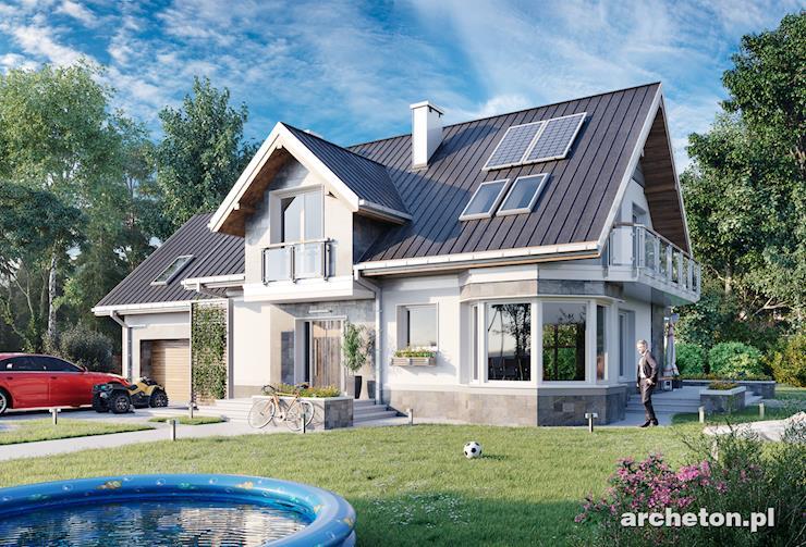 Projekt domu Turkus Rex - przestronny i atrakcyjny dom z kolekcji małe rezydencje