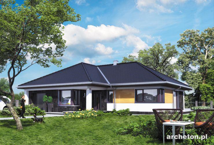 Projekt domu Tycjan - czteropokojowy dom parterowy, z przestronnym salonem i dużą kotłownią