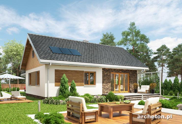 Projekt domu Tymianek - prosty i funkcjonalny dom z garażem jednostanowiskowym