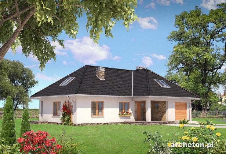 Projekt domu Tymoteusz-2 - duży dom z 3 obszernymi pokojami i garderobami na poddaszu