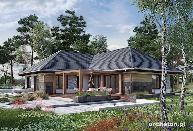 Projekt domu Tymoteusz G2 - przestronny dom parterowy, z 4 pokojami i garażem dwustanowiskowym