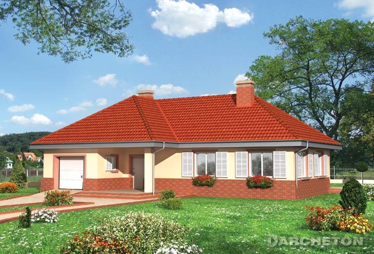 Projekt domu Tymoteusz Mały - dom parterowy bez poddasza z dwiema łazienkami