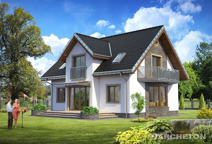 Projekt domu Tytus - dom z pokojem dziennym otwartym na jadalnię i hol