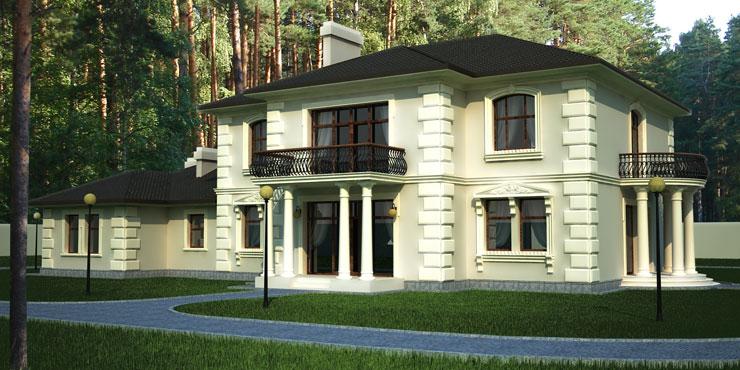 Фасады двухэтажных домов фото