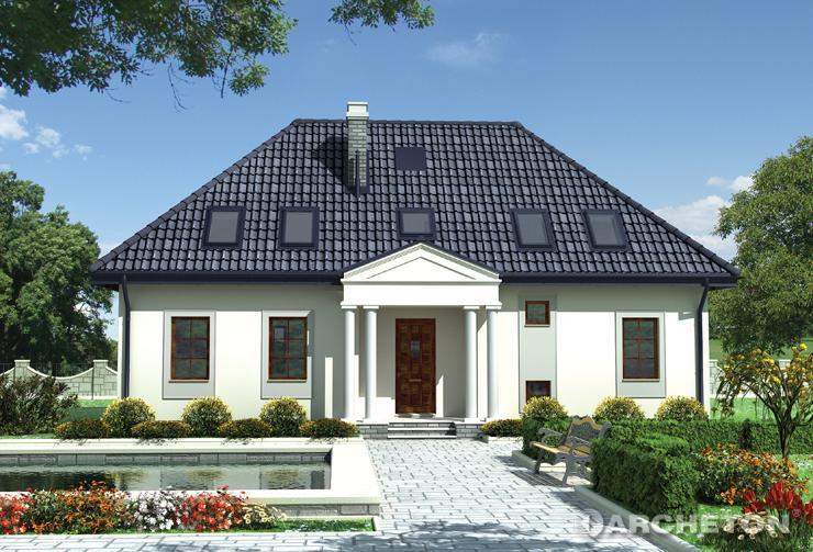 Projekt domu Ursyn - dom z 3 pokojami i 2 garderobami na poddaszu