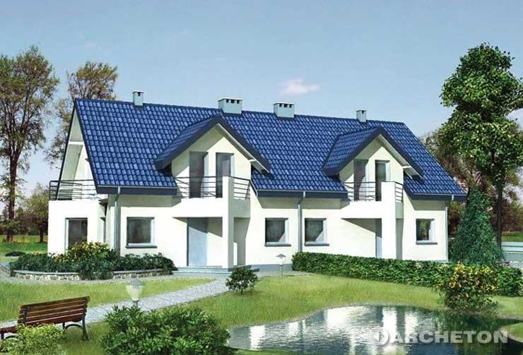 Projekt domu Uszatek - funkcjonalny bliźniak dla 5-6 osobowej rodziny