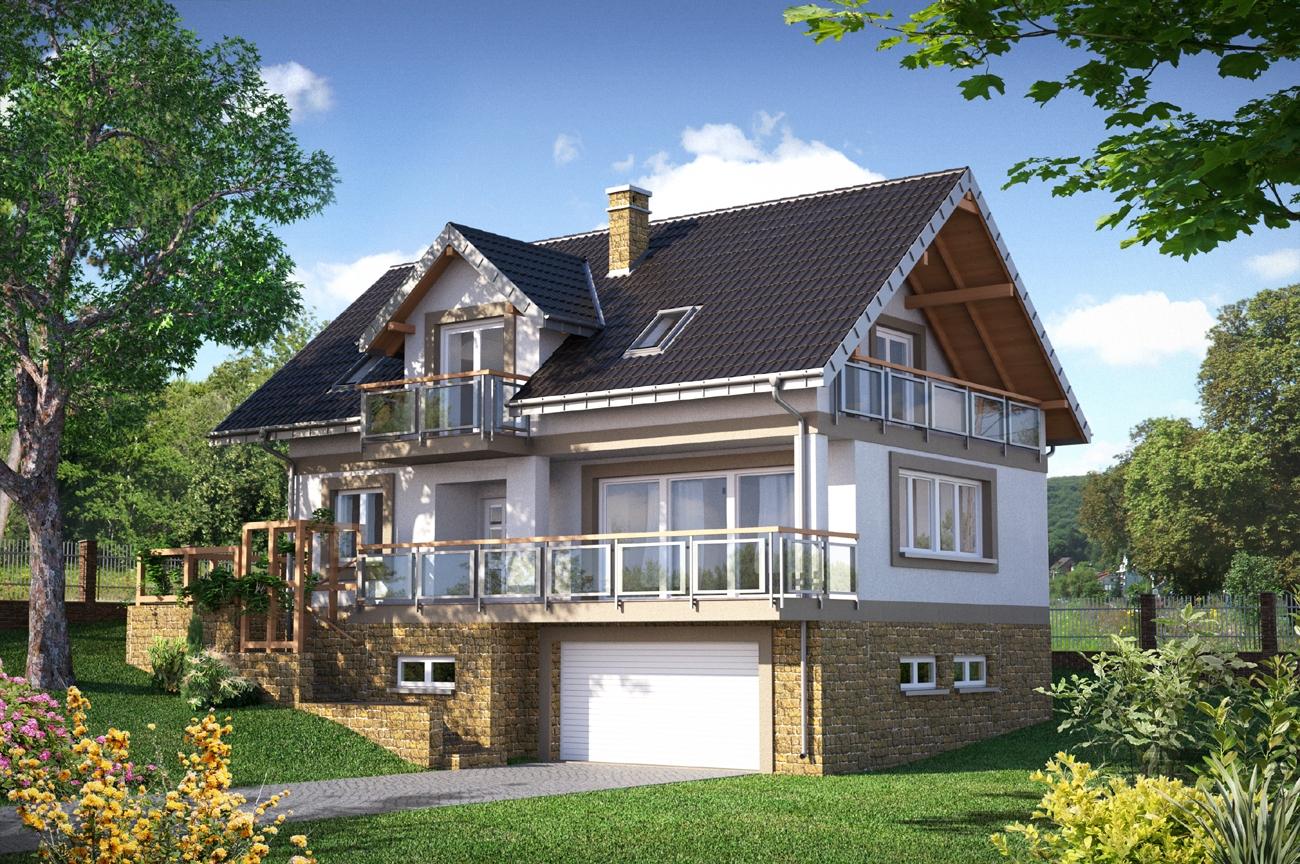 Проекты красивых домов и коттеджей цокольным этажом
