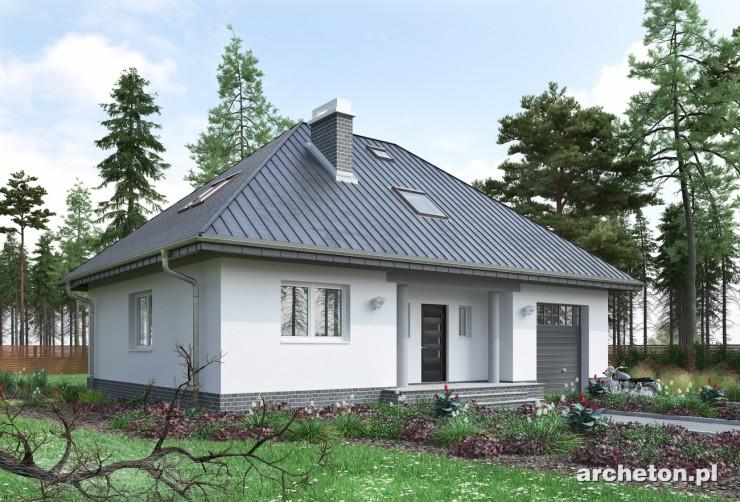 Projekt domu Wiślan - niewielki dom, z otwartą przestrzenią na parterze