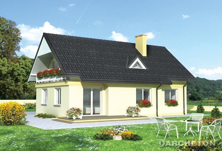 Projekt domu Wodnik - dom z pokojem dziennym oraz kominkowym na parterze