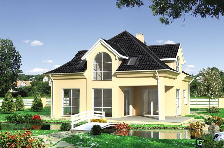 Projekt domu Wolfgang - dom na rzucie kwadratu z dużym pokojem dziennym