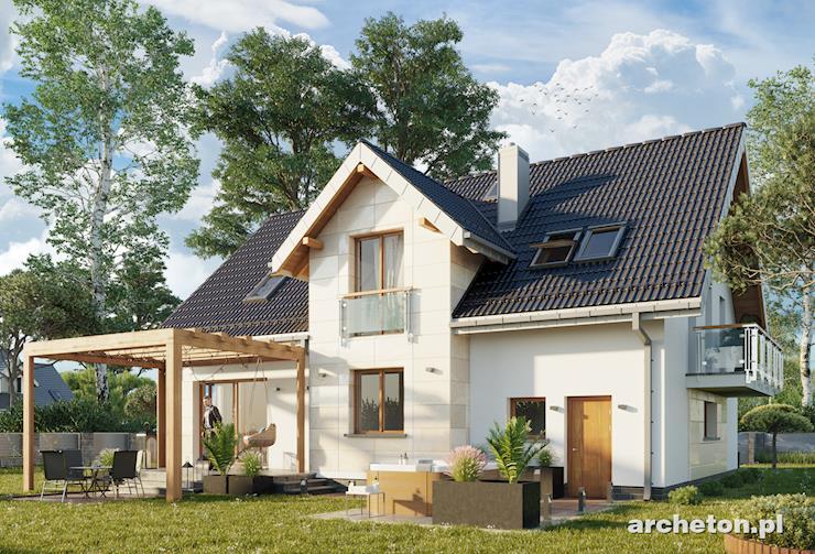 Projekt domu Zahira - funkcjonalny dom, z dużą kotłownią i pralnią na poddaszu