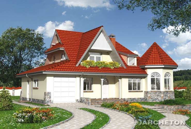 Projekt domu Zameczek - mała rezydencja o urozmaiconej formie architektonicznej
