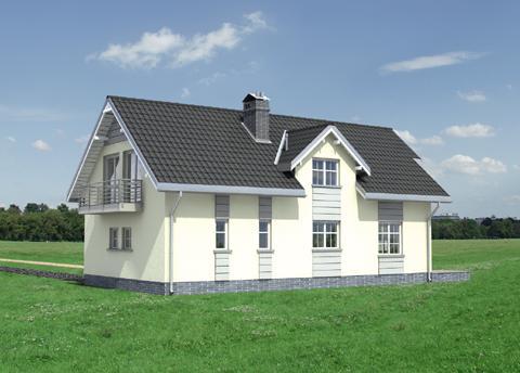 Projekt domu Zebra