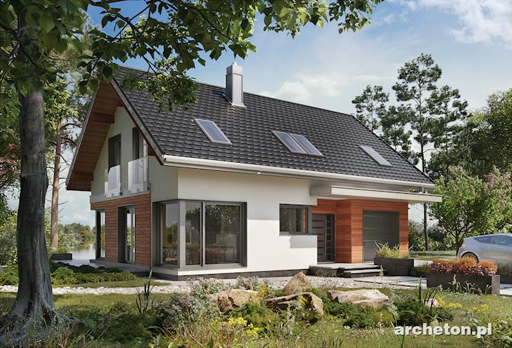 Projekt domu Zefir - nowoczesny projekt domu z 5 pokojami, garażem i przeszkloną jadalnią