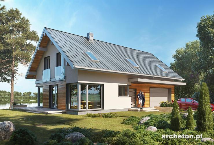 Projekt domu Zefir G2 - nowoczesny i funkcjonalny dom, na krótką działkę, z garażem dwustanowiskowym