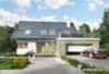 Projekt domu Zenon Polo - dom z użytkowym poddaszem, średniej wielkości, z garażem dwustanowiskowym