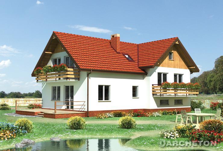 Projekt domu Zgoda - przestronny i funkcjonalny dom z półpoziomami
