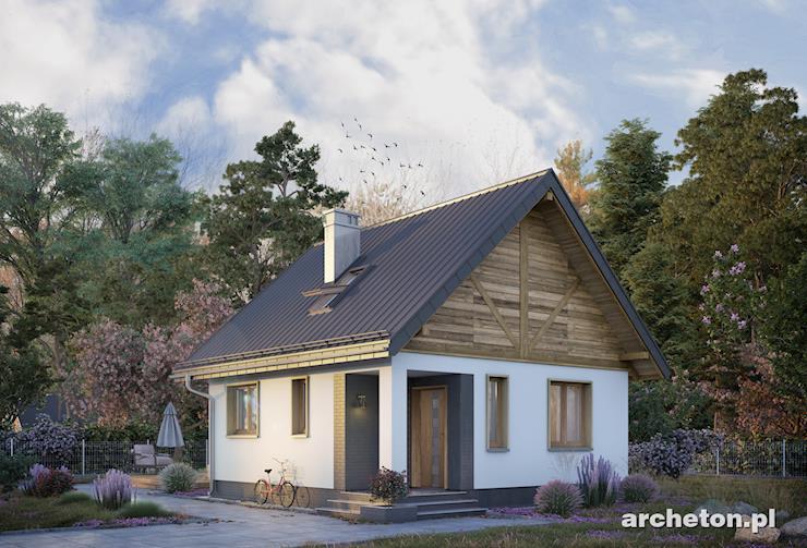 Projekt domu Ziarko - malutki domek, z możliwością adaptacji poddasza w II etapie budowy