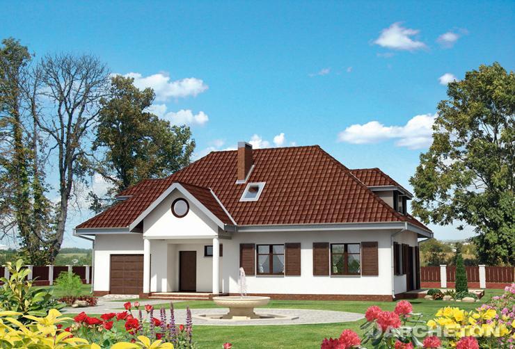 Projekt domu Złoty Róg - reprezentacyjny dom nawiązujący do tradycji dworkowej