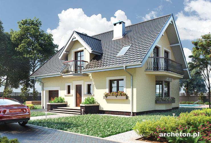 Projekt domu Zofia - dom średniej wielkości, z jedną łazienką na parterze i dwoma na poddaszu