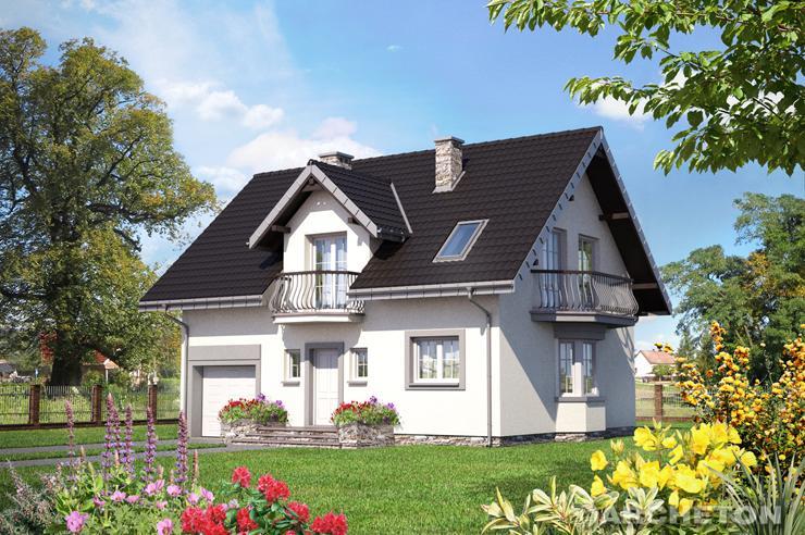 Projekt domu Zofia Bobo - zgrabny domek z sypialnią z własną łazienką na poddaszu