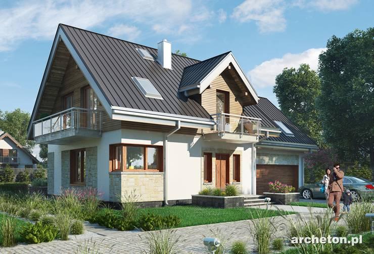 Projekt domu Zofia G2 - atrakcyjny i funkcjonalny dom , idealny dla 4 osobowej rodziny, z garażem dwustanowiskowym