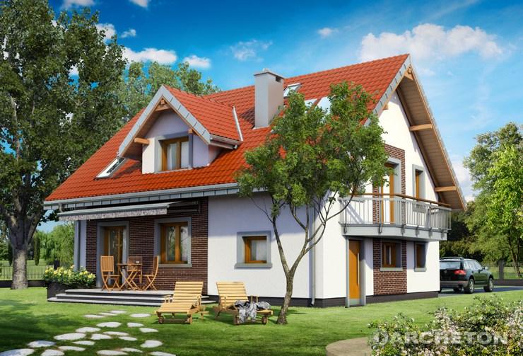 Projekt domu Zofia Mini Eko - energooszczędny dom z garażem i dużą kotłownią