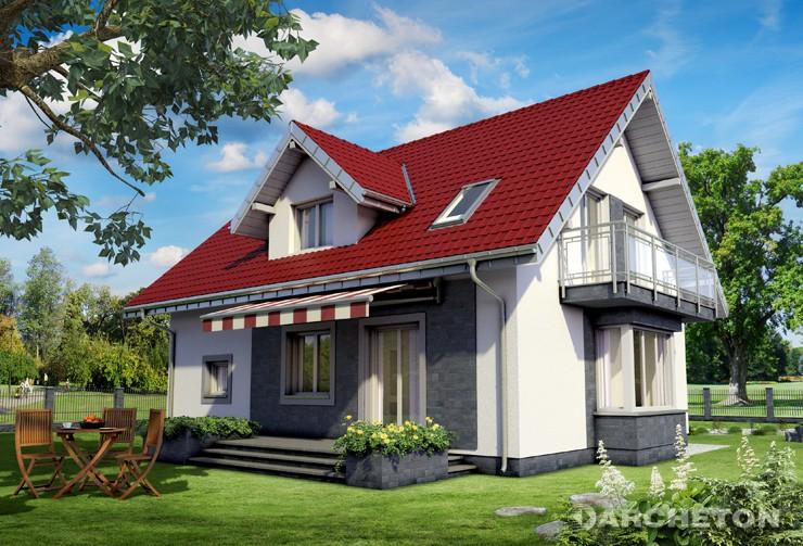 Projekt domu Zofia Mini Neo - niewielki dom z poddaszem, idealny dla 4 osób
