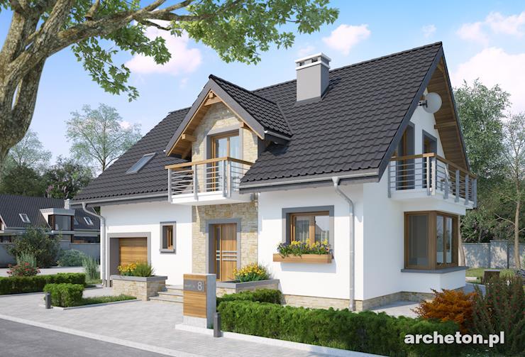 Projekt domu Zofia Neo - średniej wielkości dom ze spiżarką obok kuchni